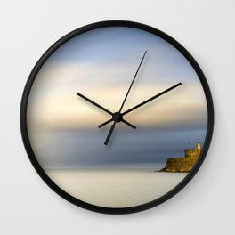 Mandraki harbour of Rhodes Greece Wall Clock