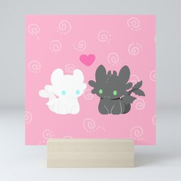 TOOTHLESS AND HIS GIRLFRIEND Mini Art Print