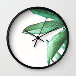 Malibu II (Leaf Print) Wall Clock