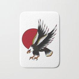 Eagle in the Red Sun Bath Mat