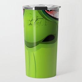 Frankenstein Ugly Portrait and Spiders Travel Mug