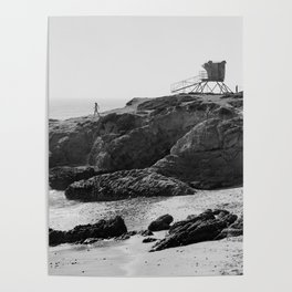 Leo Carrillo State Beach | Malibu California | Black and White Photography | Malibu Photography Poster