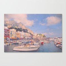 Early Morning In Capri's Marina Grande Canvas Print