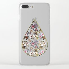 Amaryllis and Butterflies Clear iPhone Case