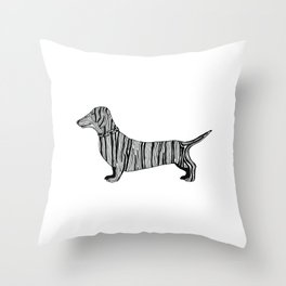 Dachshund Sausage Dog Throw Pillow