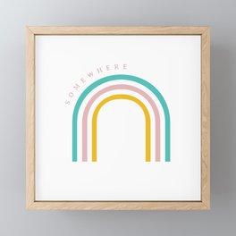 Somewhere Over the Rainbow Framed Mini Art Print