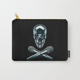 Pirate tunes / 3D render of skull and cross bones with microphones Carry-All Pouch