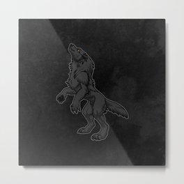 Standing Werewolf Metal Print
