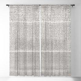 The Rosetta Stone // Antique White Sheer Curtain