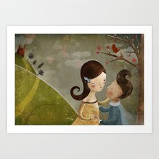 You arms are my castle Art Print