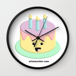 Cute Birthday Cake Wall Clock