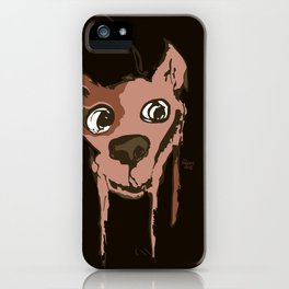 Anton - brown and soft pink iPhone Case