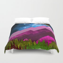 Purple Nature Duvet Cover