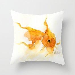 Watercolor Goldfish 1 Throw Pillow