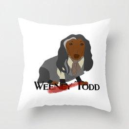 Weeney Todd Throw Pillow