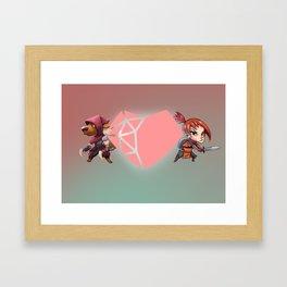 Heart Shaped Valentine Framed Art Print
