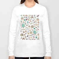 notebook Long Sleeve T-shirts featuring Just things by BlueLela