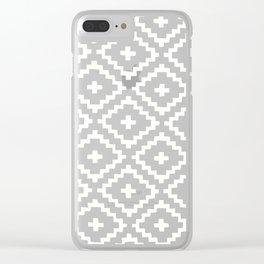 geometric diamond pattern Clear iPhone Case