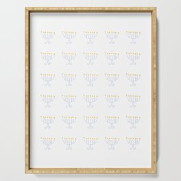 menorah 13- Hanukkah,jewish,jew,judaism,Festival of Lights,Dedication,jerusalem,lampstand,Temple, מְ Serving Tray