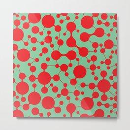Molecule pattern Metal Print
