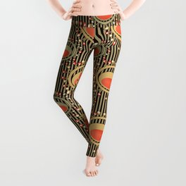 Abstract yellow and grey pattern . Leggings