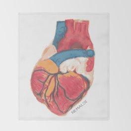 Pumping Heart Throw Blanket