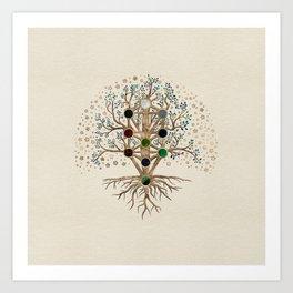 Kabbalah The Tree of Life on canvas Art Print