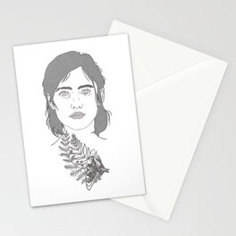 Ellie and Joel illustration TLOU Tattoo the last of us part 2 Stationery Cards