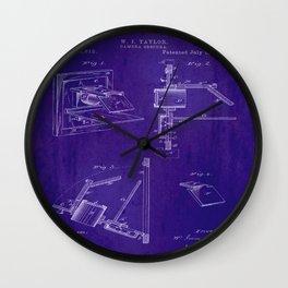 Camera Obscura Patent Wall Clock