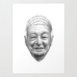 MI VIDA HA SIDO EXTRAORDINARIA SERIES#4 Art Print