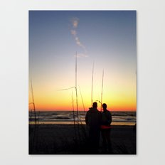 Sunsets for the Romantic Canvas Print
