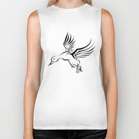 duck Biker Tanks featuring Duck by Kimberly Castello