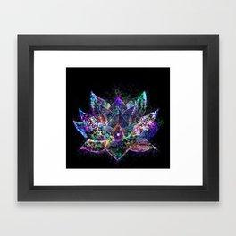 Lotus Flower Glow Framed Art Print