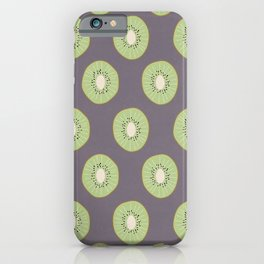 Kiwi Fruit Pattern iPhone Case