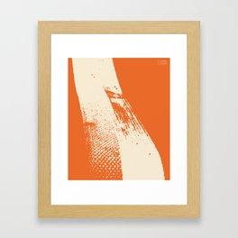 Stripe (Orange) by Matthew Korbel-Bowers for Covell & Company Framed Art Print