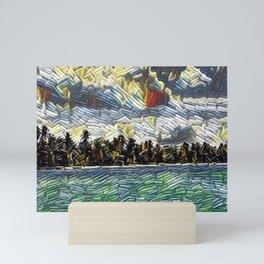 Abstract Caribbean Beach Brick Art Mini Art Print