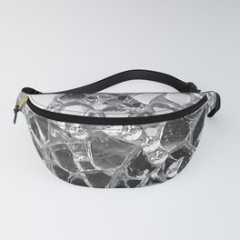 Silver Mirrored Mosaic Fanny Pack