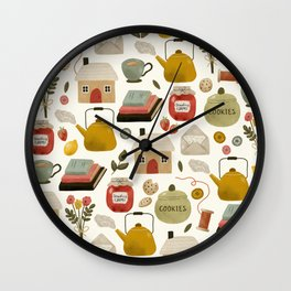 Summer Cottage Days Wall Clock