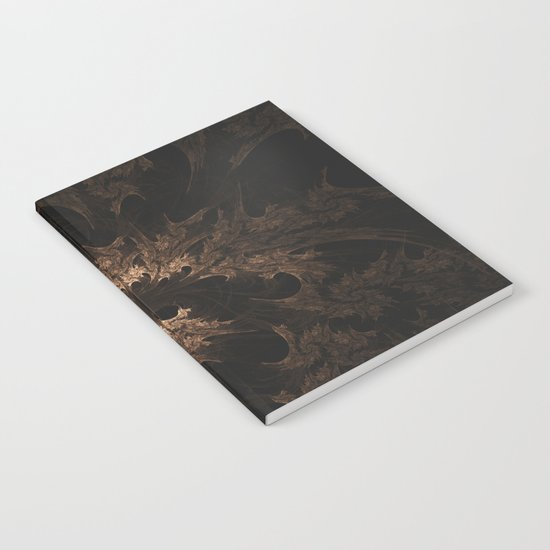Abstract Fractal Design - Vintage Look Notebook