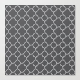 Grey Trellis Canvas Print