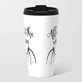 All about the wingspan white design Travel Mug