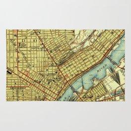 Vintage Map of Toledo Ohio (1938) Rug