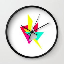 Colour Shards 01 Wall Clock