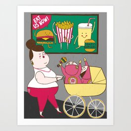 Childhood Obesity Art Print