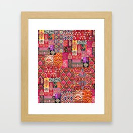 -A35- Traditional Colored Moroccan Artwork. Framed Art Print