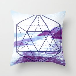 The Elements Geometric Nature Element of Water Throw Pillow