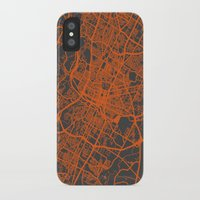 austin iPhone & iPod Cases featuring Austin map by Map Map Maps