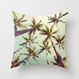 Palm Trees Sway Throw Pillow