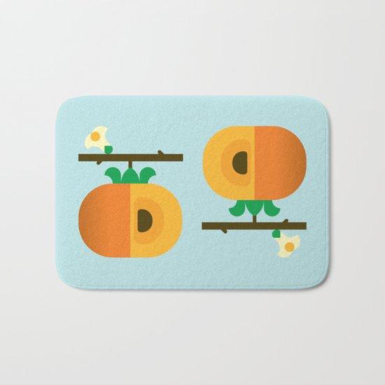 Fruit: Persimmon Bath Mat