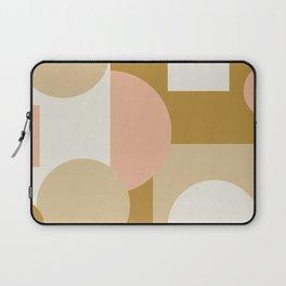 Pop Art Modern Shapes Neutral Tones Laptop Sleeve